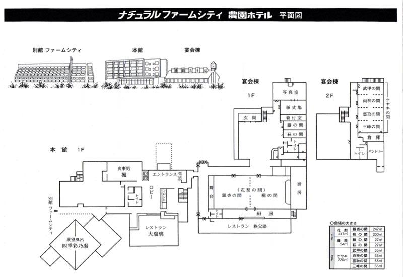 農園ホテル平面図